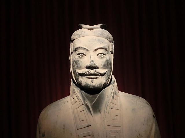 Xian Warrior, close-up view