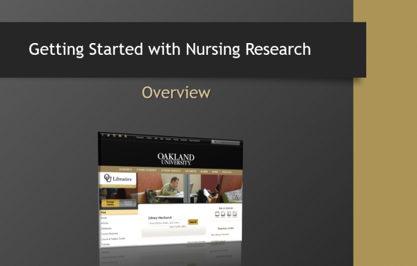 Getting Started with Nursing Research (video, 8:29 min)