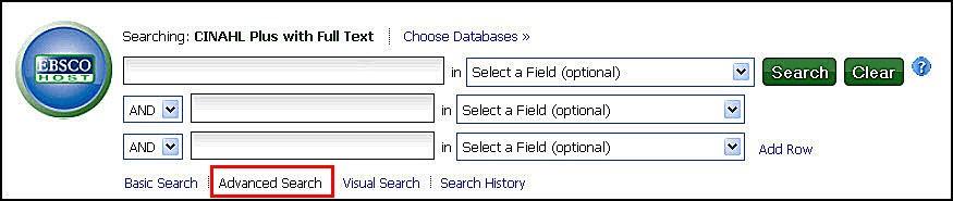 CINAHL search box