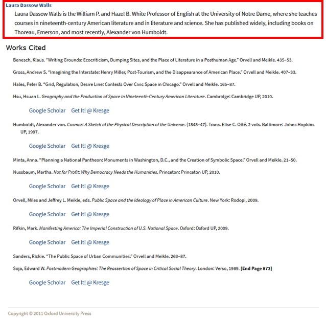Screenshot highlight author credentials.