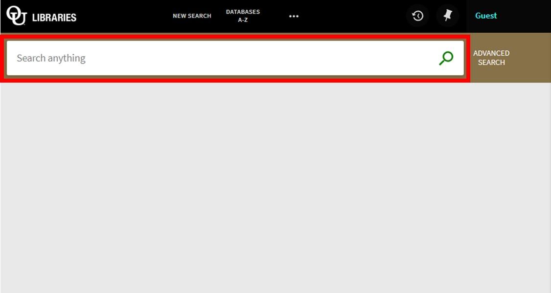 Screenshot 1 - Initial Search